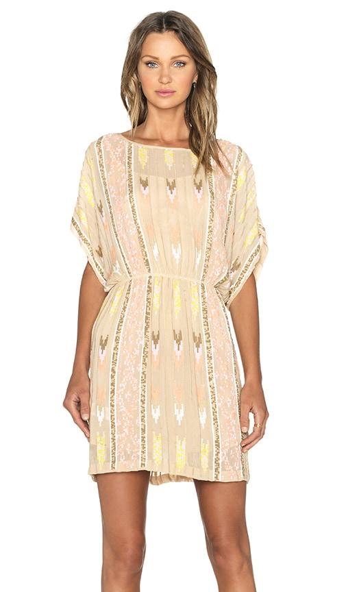 Hoss Intropia Embellished Dress in Light Pink