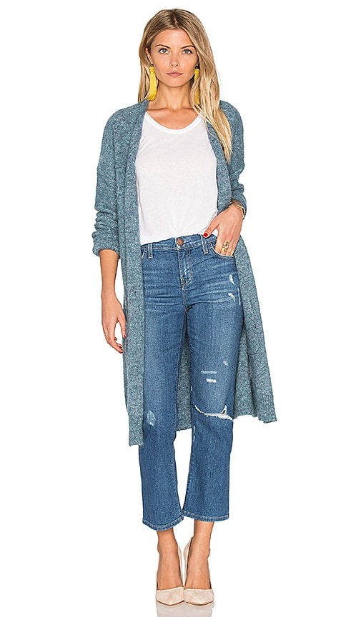 Hoss Intropia Long Cardigan in Blue