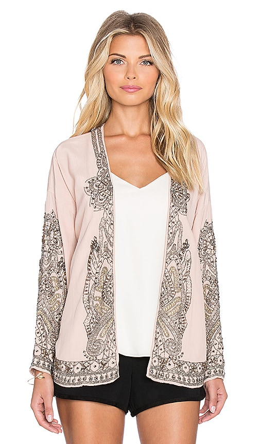 Hoss Intropia Floral Swing Blazer in Pink