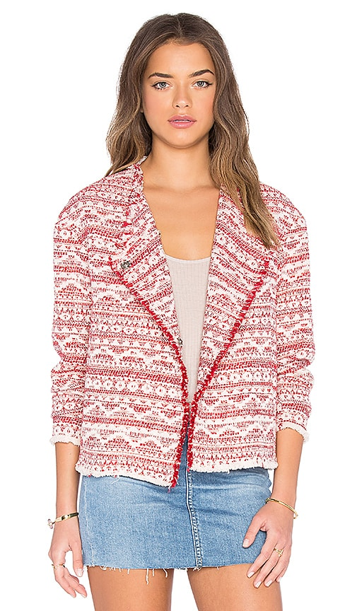 Hoss Intropia Printed Blazer in Red