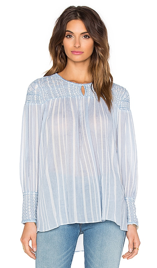 Hoss Intropia Striped Blouse in Blue