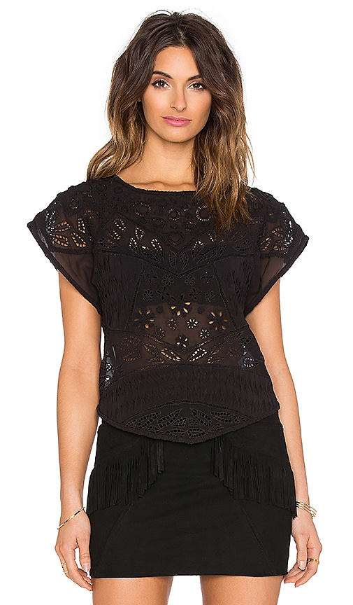 Hoss Intropia Embellished Top in Black
