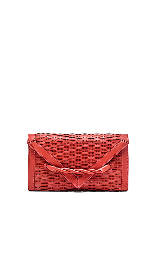 Hoss Intropia Basket weave Clutch in Blush