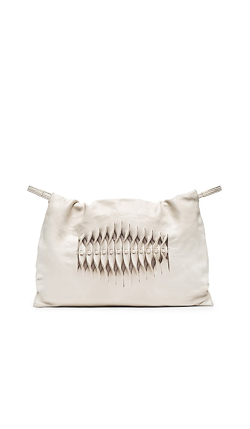 Hoss Intropia Front Twisted Clutch in Ivory