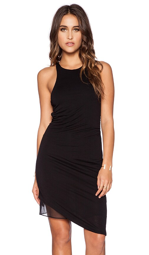 Heather Asymmetrical Dress in Black