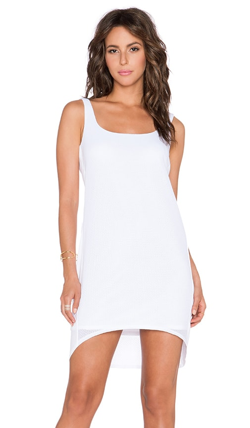Heather Lace Side Panel Shift Dress in White