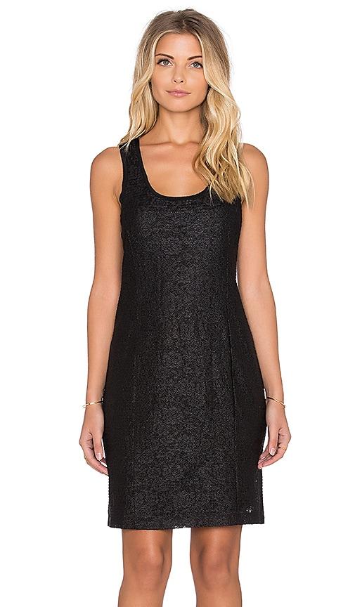 Heather Astral Zip Back Dress in Black