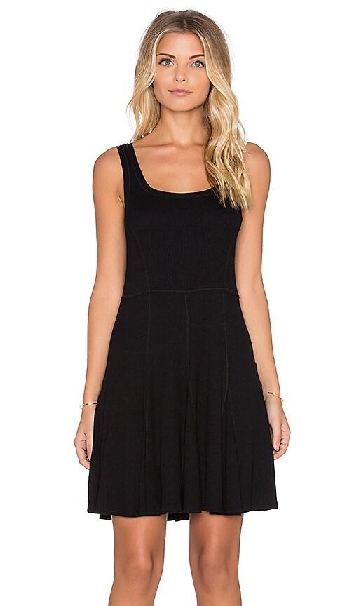 Heather Skater Tank Dress in Black