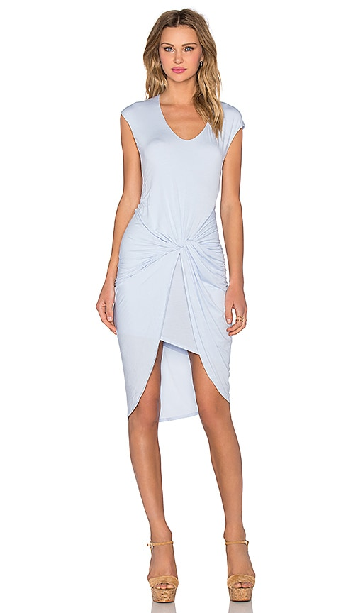 Heather Asymmetrical Knot Dress in Blue