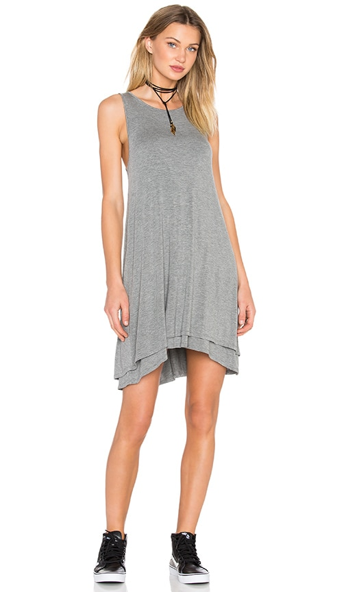Heather Back Keyhole Dress in Light Gray