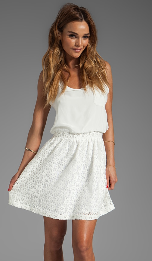 Lace Pocket Tank Dress