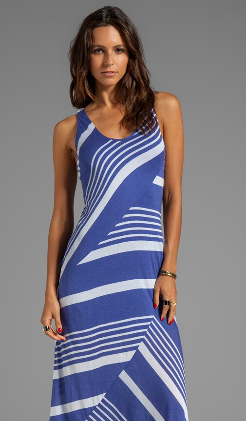Engineered Stripe Slice Dress
