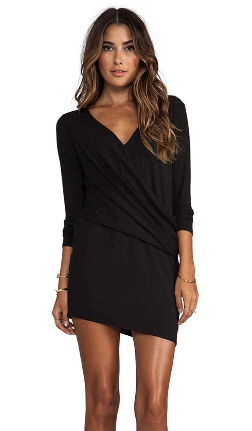 Long Sleeve V Tuck Dress
