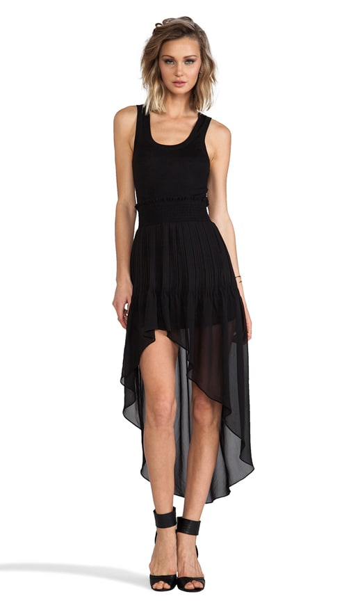 Hi Low Pleated Maxi Dress
