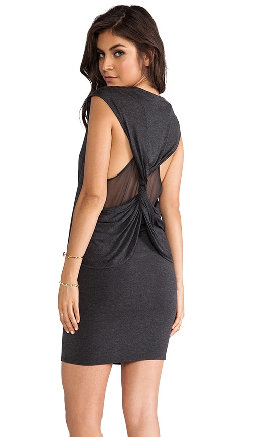 Silk Twisted Back Dress