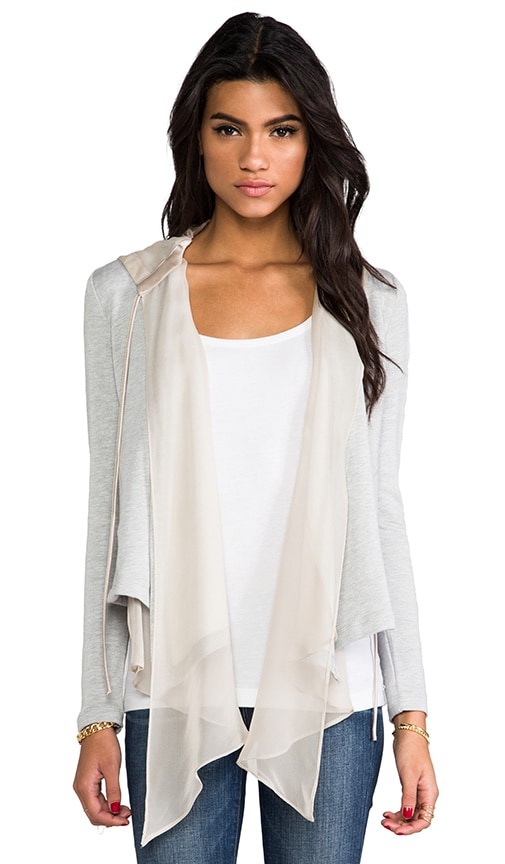 Silk Hooded Cardigan