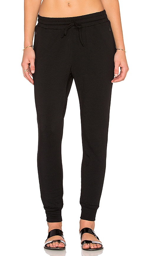 Heather Fleece Pant in Black