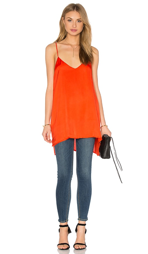 Heather Woven Cami Tunic in Orange