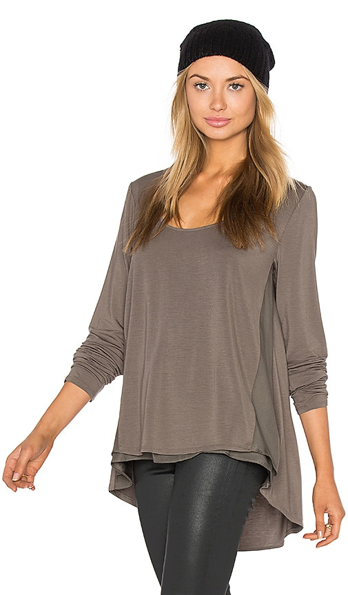 Heather Silk Panel Swing Top in Sage