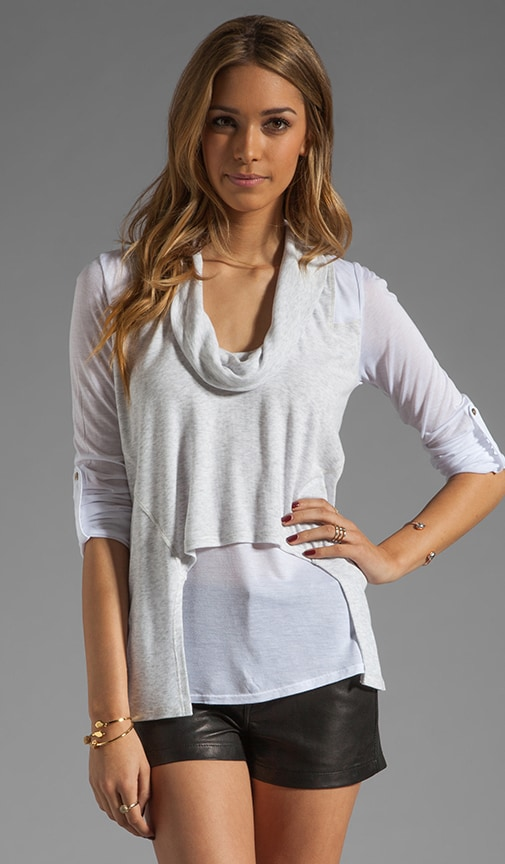 Roll Sleeve Cowl Top