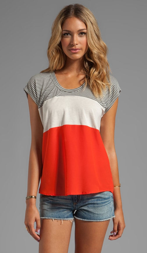 Mini Colorblock Stripe Tee