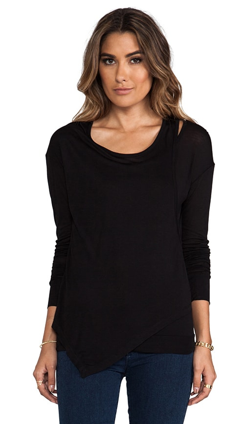 Long Sleeve Cut Out Tee