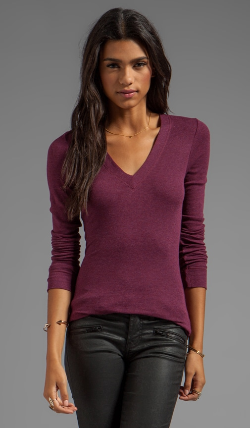 Core Long Sleeve V Neck Tee