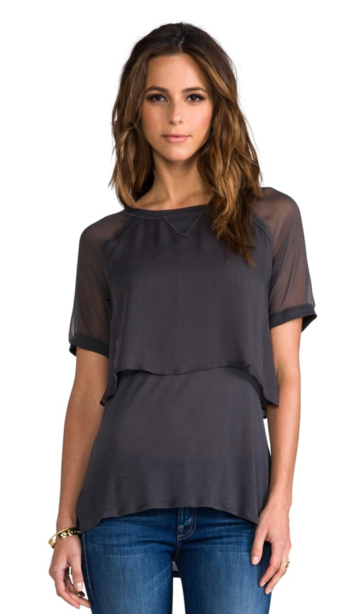 Double Layer Silk Tee