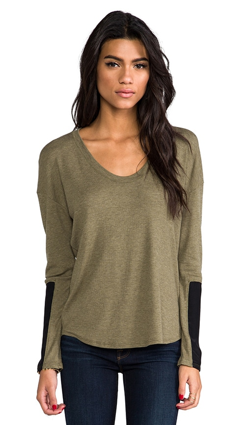 Silk Block Sleeve Top