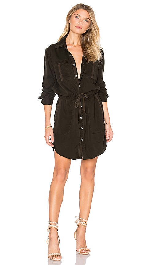 Hudson Jeans Peyton Military Shirt Dress in Army