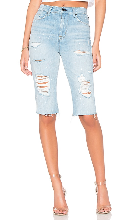 Hudson Jeans Zoeey High Rise Cut Off Boyfriend Short in Love St