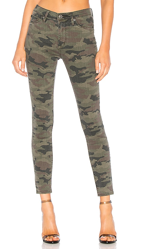 Hudson Jeans High Waist Super Skinny Ankle in Deployed Camo | REVOLVE