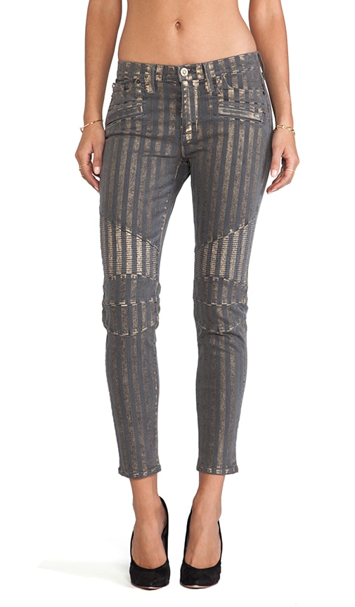 Moto Striped Skinny