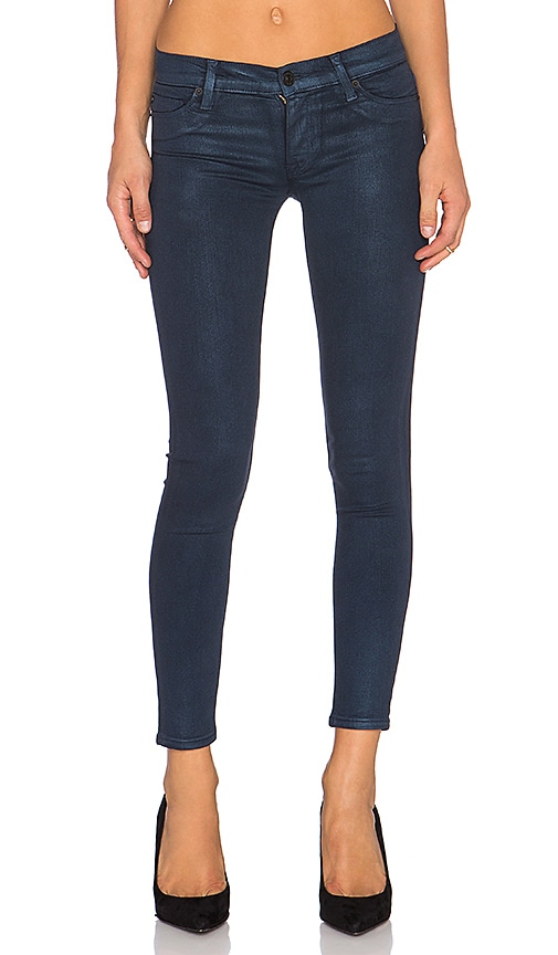 Hudson Jeans Kirsta Skinny in Metallic Midnight