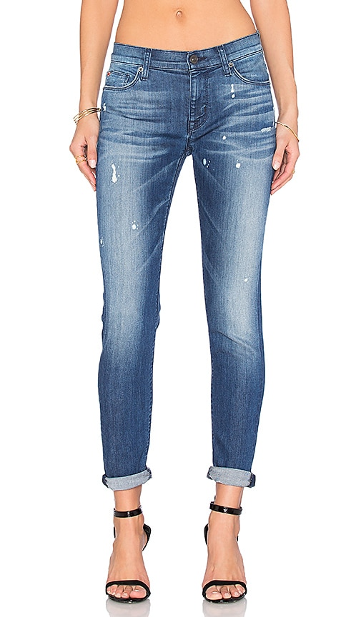 Hudson Jeans Nico Mid Rise Ankle Super Skinny in Wipe Out