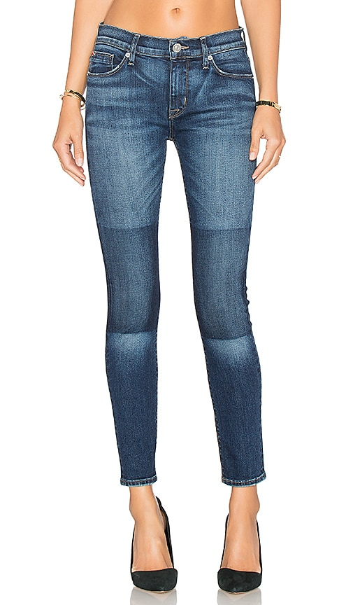 Hudson Jeans Nico Mid Rise Ankle Skinny in Fleet