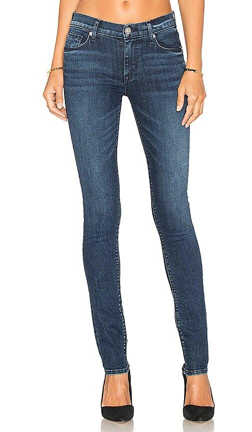 Hudson Jeans Shine Mid Rise Skinny in Moonshine