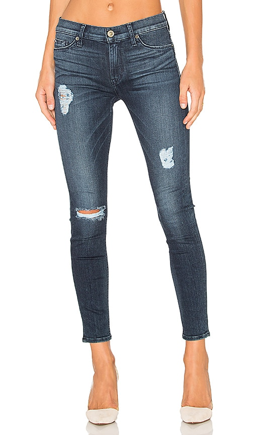 Hudson Jeans Nico Mid Rise Ankle Skinny in Anchor Light 2