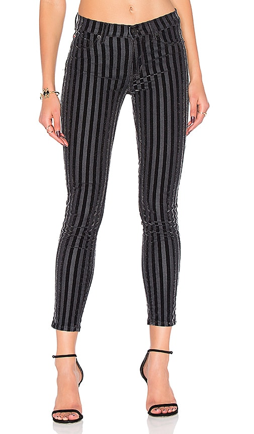 Hudson Jeans Nico Mid Rise Ankle Skinny in Linear