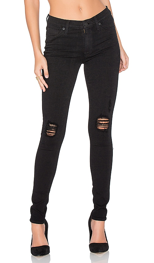 Hudson Jeans Nico Distressed Skinny in Black