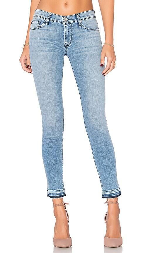 Hudson Jeans Krista Release Hem Skinny in Blue