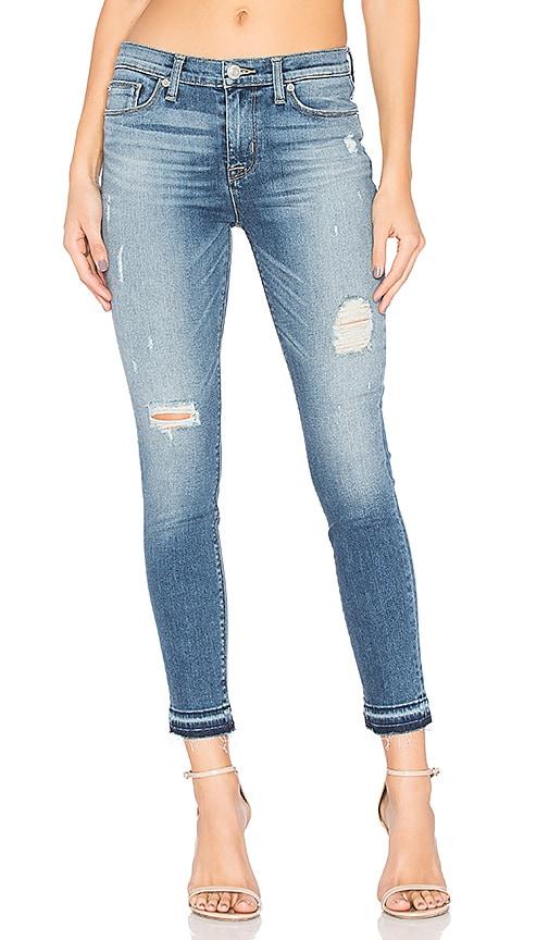 Hudson Jeans Nico Release Hem Skinny in Decimate