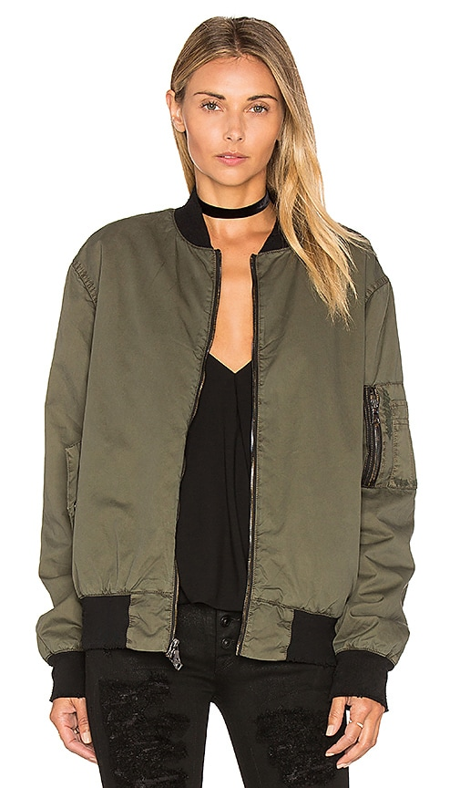 Hudson Jeans Gene Bomber Jacket in Army