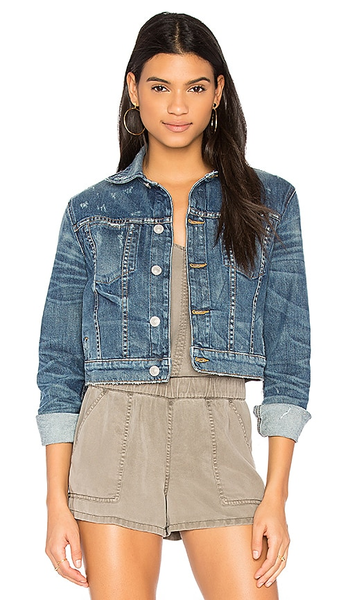 Hudson Jeans x REVOLVE Garrison Cropped Denim Jacket in Medium Blue