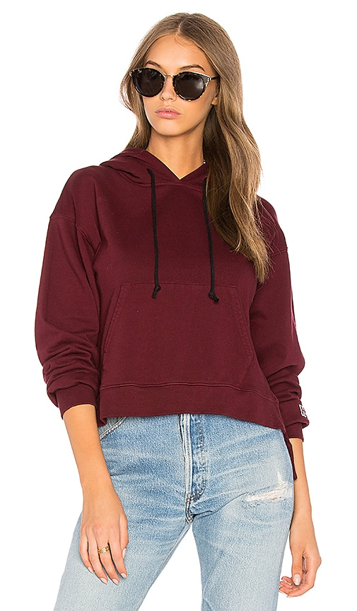 Hudson Jeans Classic Hoodie in Red