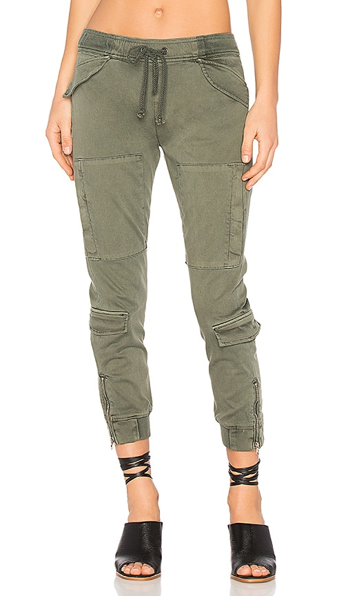 Hudson Jeans Runaway Flight Pant in Army