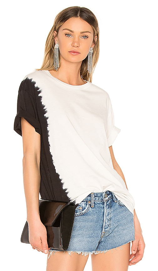 Hudson Jeans X Baja East Knotted Tee in Black & White