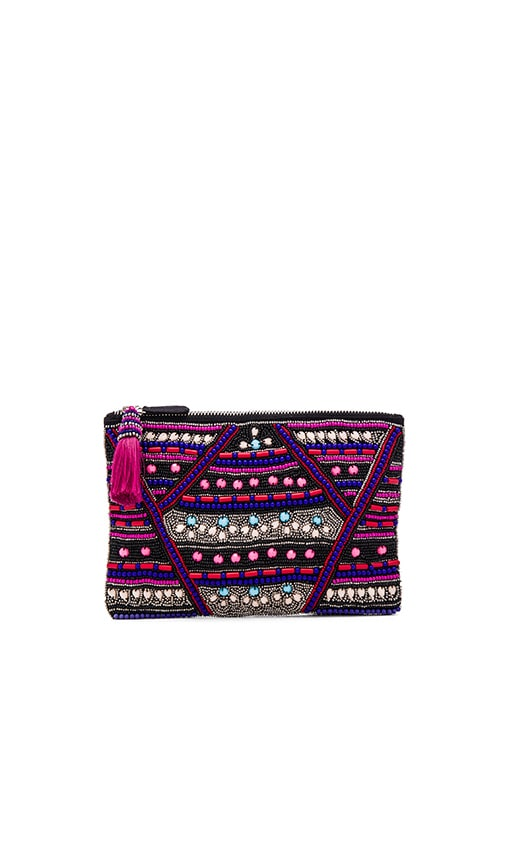 HueBreeze Tri Clutch in Pink