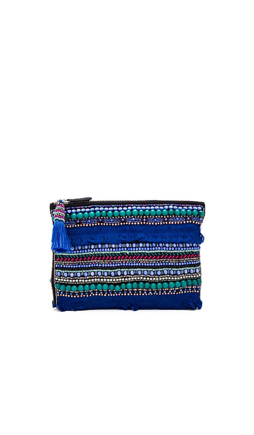 HueBreeze Hairy Clutch in Blue