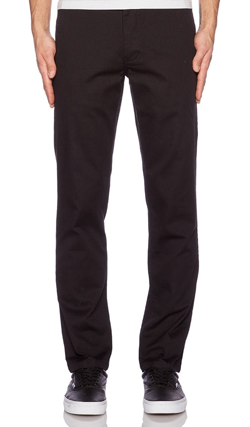 Huf Fulton Chino in Black